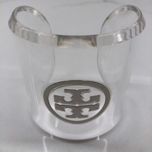 Tory Burch Plastic Lucite Cuff Bracelet